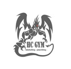 HC GYM logo top, juodas ver.2