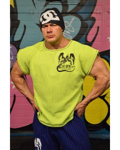 HC GYM klasikiniai sportiniai marškinėliai, geltona