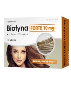 Activlab Biotyna Forte 10mg 30 kapsulių
