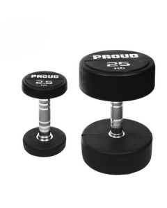 RUBBER COATED DUMBBELL PROUD  2,5 kg - 50 kg - DELIVERY IN 4 DAYS
