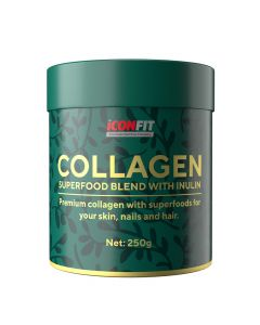 ICONFIT Collagen Superfoods + Inulin, kolageno supermaistas + inulinas (250g)